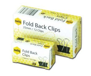 Marbig Foldback Clips 15mm pk12 product image