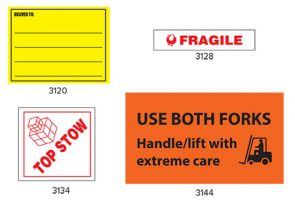 Deliver To Label 96mmx150mm Yellow product image