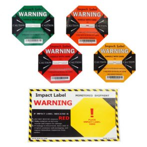 Impact Warning Label 25g + Backing Label product image