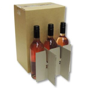 6 Bottle Wine Carton 240x160x360mm product image