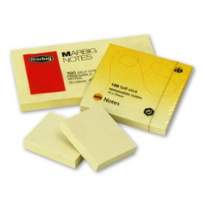 Stick-on Notes Yellow 38mmx50mm pk12 product image