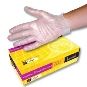 Clear Vinyl Powdered Glove Small pk100 product image