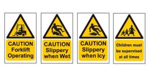 Caution Slippery When Wet Sign product image