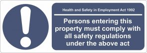 Health & Safety Sign 550x200mm product image