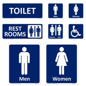 Rest Rooms Sign 300x120mm product image