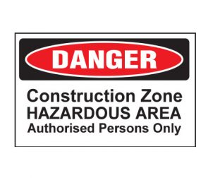 Construction Zone Sign product image