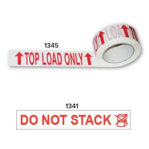 Top load only and do not stack tape product image