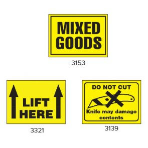 Yellow Handling Labels product image