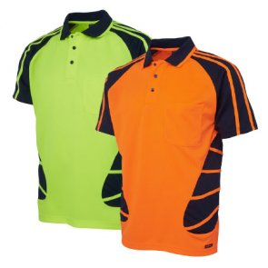 spider polo shirts high visibility product image
