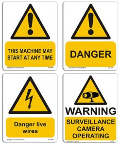 danger warning signs product image