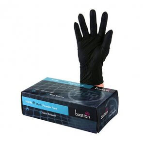Heavy Duty Black Nitrile Gloves product image