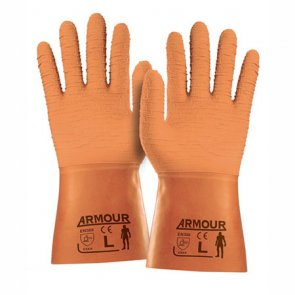 Rough Grip Orange Gloves product image
