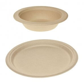 Green choice Bamboo Plates and Bowls product image
