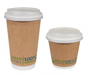 Green choice cups made of plant based matter product image