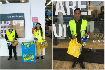 Primepac team taking part in Daffodil Day street collection