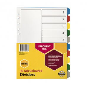 Office Dividers 10 tabs product image