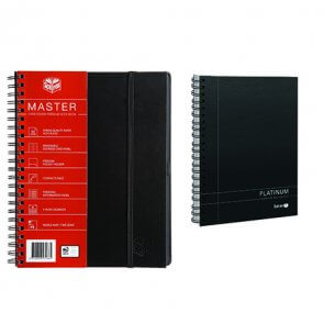 Spirax Platinum Notebooks offer high quality 90gsm paper and available in A4 and A5 product image