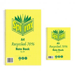 Spirax Recycled Notebooks are the sustainable note taking option product image