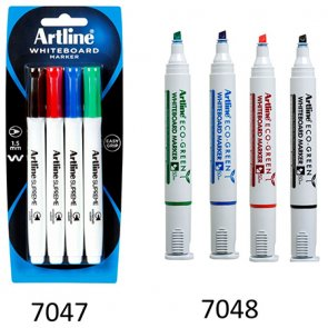 Artline White Board Markers - chisel tip product image